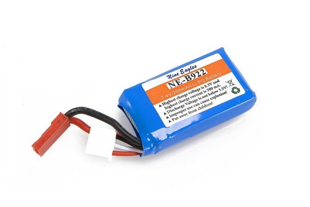 Nine Eagles Li-pol 7.4V 250mAh, 2s1p, JST